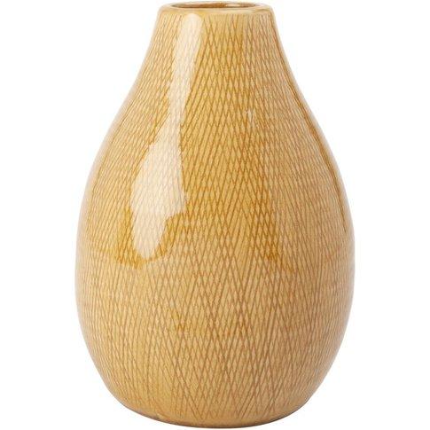 Yellow Ceramic Vase H24