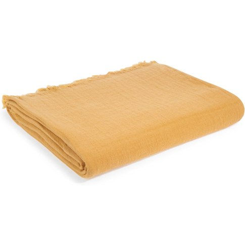 Yellow Cotton Blanket 130x170