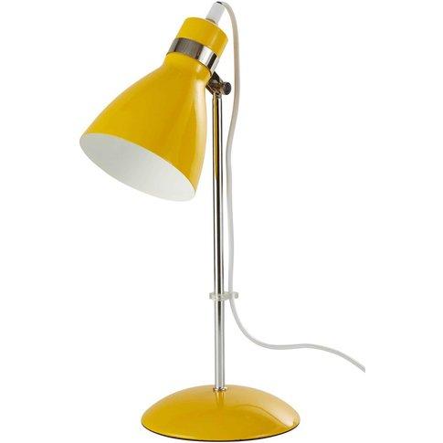 Yellow Metal Desk Lamp