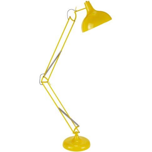 Yellow Metal Directional Floor Lamp