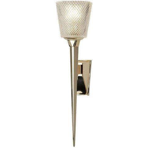 Elstead Verity - 1 Light Wall Light Polished Gold Gl...