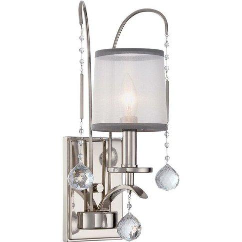 Elstead Whitney - 1 Light Wall Light - Imperial Silv...