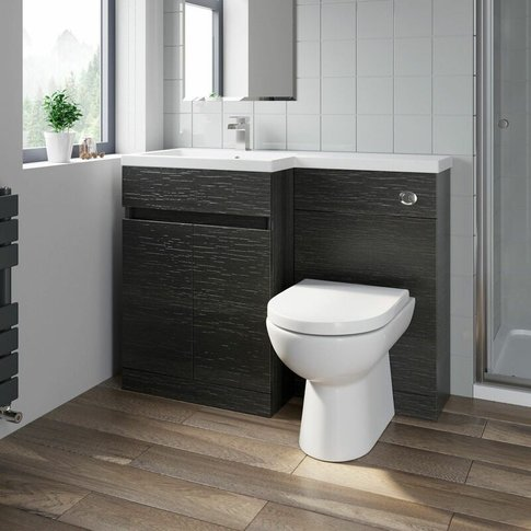 1100mm Bathroom Vanity Unit Basin Toilet Combined Fu...