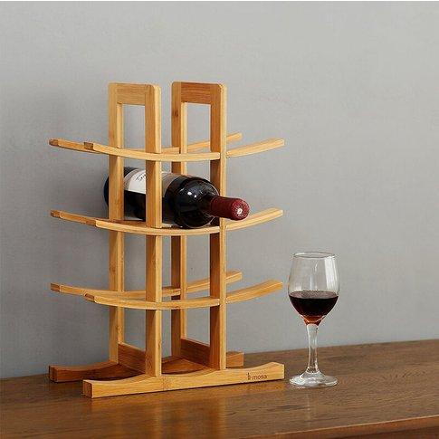 12 Bottles Curved Display Storage Holder Bar Cabinet...