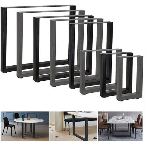 100x72 Cm 2 Pieces Table Frame Black Table Base Tabl...