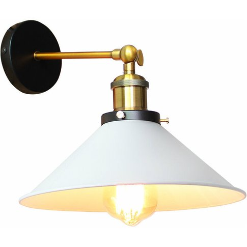 22cm Metal Iron Wall Lamp Industrial Ceiling Light W...