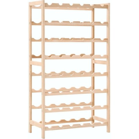 Wine Rack Cedar Wood 57.5x28x102 Cm - Vidaxl