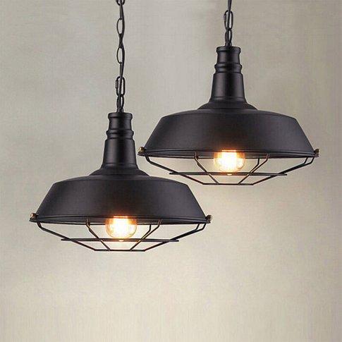 (3 Piece)Vintage Industrial Ceiling Lamp Metal Iron ...