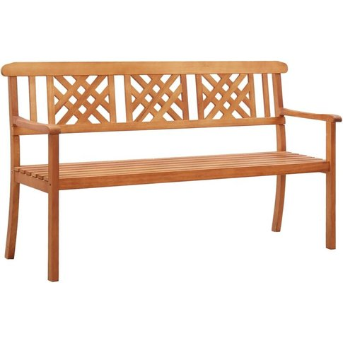 3-Seater Garden Bench 150 Cm Solid Eucalyptus Wood -...