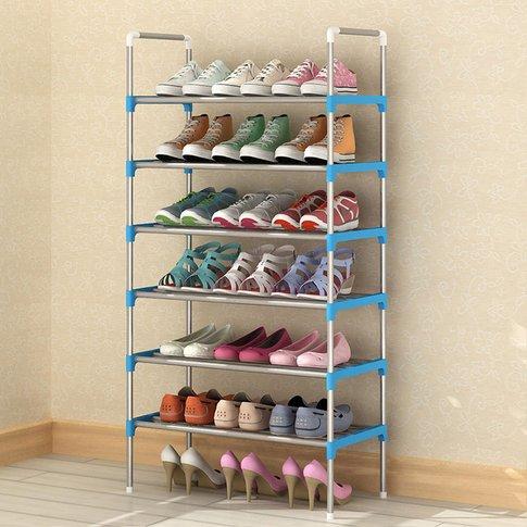 Kingso - 6 Tier Stackable Shoe Storage Rack Supporte...