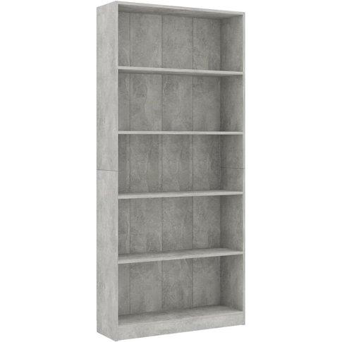 Vidaxl - 5-Tier Book Cabinet 80x24x175 Cm Chipboard ...