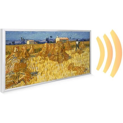 595x1195 Harvest In Provence Nxt Gen Infrared Heating Panel 700w - Frame Colour: Black Aluminium - Mirrorstone Heating