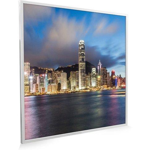 595x595 Hong Kong Nxt Gen Infrared Heating Panel 350w - Frame Colour: Silver Aluminium - Mirrorstone Heating