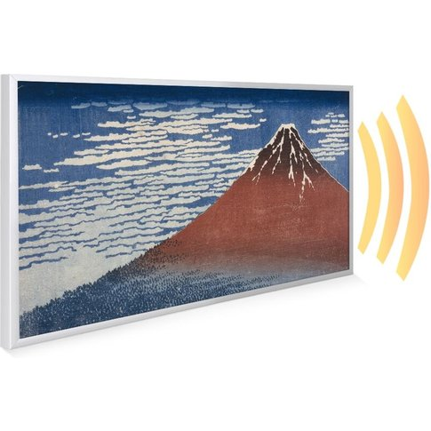 595x995 Fine Wind Clear Morning Nxt Gen Infrared Heating Panel 580w - Frame Colour: White Aluminium - Mirrorstone Heating