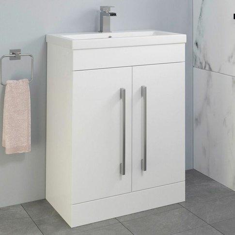 600mm Bathroom Vanity Unit Basin Cabinet Unit White ...
