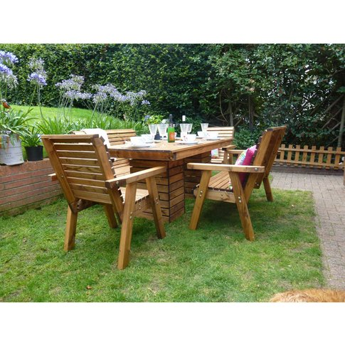 6ft Pedestal Table + 2 Chairs + 2 Benches Flatpack -...