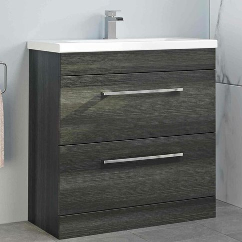 800mm Bathroom Vanity Unit Basin Drawer Cabinet Cont...