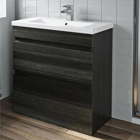 800mm Bathroom Vanity Unit Basin Drawer Cabinet Unit...