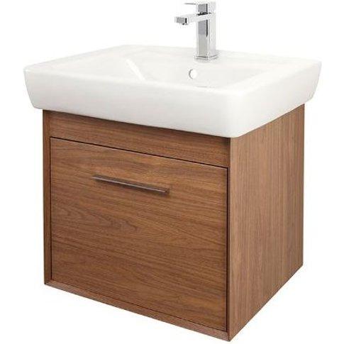 Abacus Simple 60cm Basin Vanity Unit Walnut - Abacus...