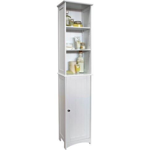 American Cottage - Tall Bathroom Storage Cupboard Wi...
