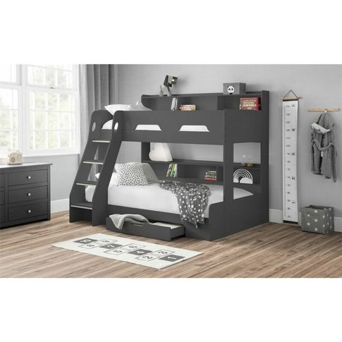 Anthracite Triple Sleeper Book Case Bunk Bed 3ft (90...