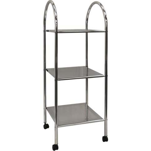 Athena - 3 Tier Metal Bathroom Storage Shelves / Tro...