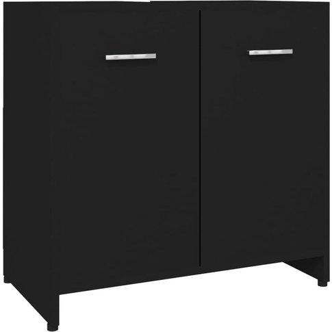 Bathroom Cabinet Black 60x33x58 Cm Chipboard - Vidaxl