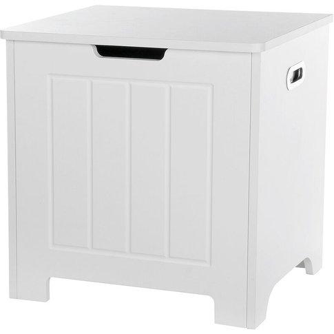 Bathroom Storage Cabinet 48x40x50cm White Laundry Ba...