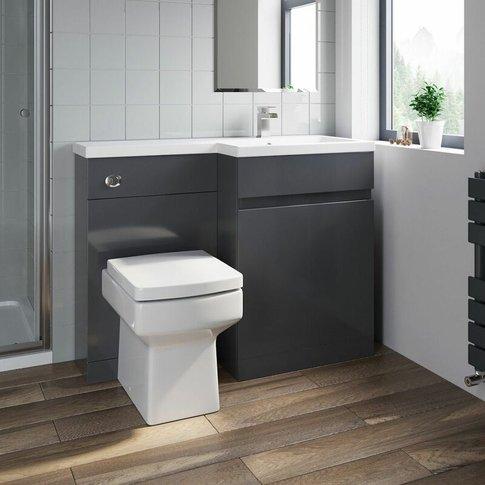 Bathroom Vanity Unit Basin 1100 Mm Toilet Combined F...