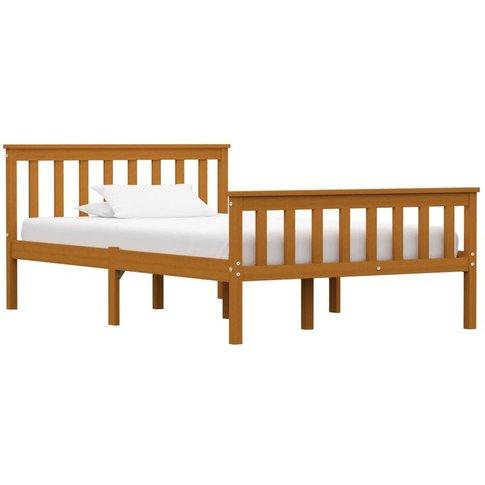 Bed Frame Honey Brown Solid Pinewood 120x200 Cm - Yo...