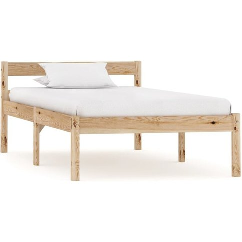 Bed Frame Solid Pine Wood 90x200 Cm - Youthup