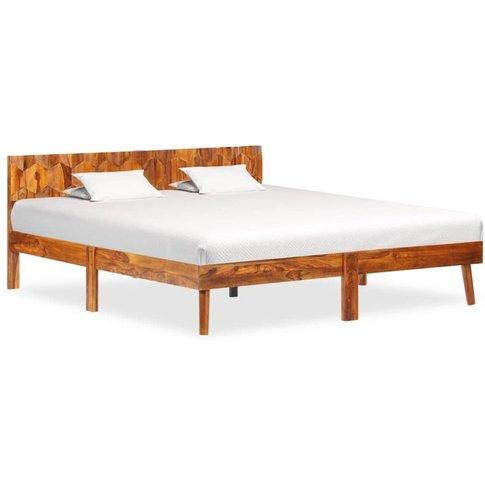 Bed Frame Solid Sheesham Wood 160x200 Cm - Vidaxl