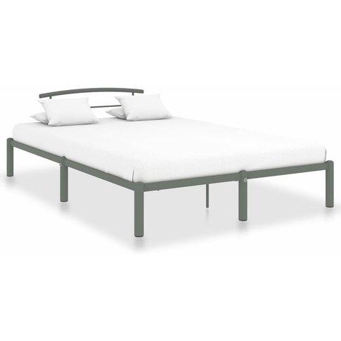 Bed Frame Metal Grey 160x200 Cm - Vidaxl