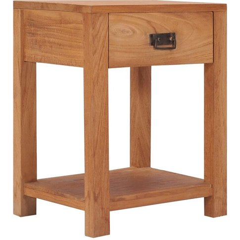 Bedside Cabinet 35x35x50 Cm Solid Teak Wood - Vidaxl