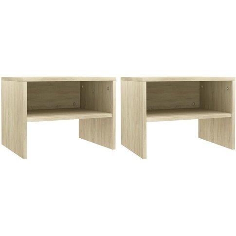 Bedside Cabinets 2 Pcs Sonoma Oak 40x30x30 Cm Chipbo...