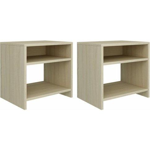 Bedside Cabinets 2 Pcs Sonoma Oak 40x30x40 Cm Chipbo...