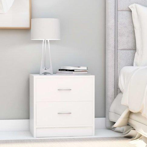Bedside Cabinets 2 Pcs White 40x30x40 Cm Chipboard -...