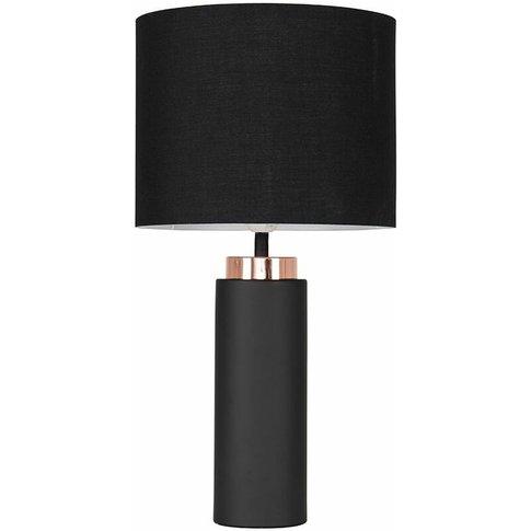 Black / Copper Table Lamp + Black Shade - Minisun