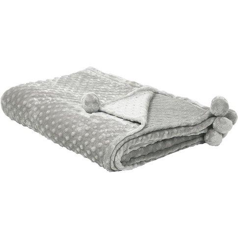 Blanket 150 X 200 Cm Light Grey Samur - Beliani