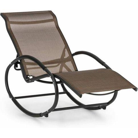 Santorini Rocking Chair Deck Chair Aluminum Polyeste...