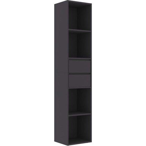 Vidaxl - Book Cabinet 36x30x171 Cm Chipboard Grey