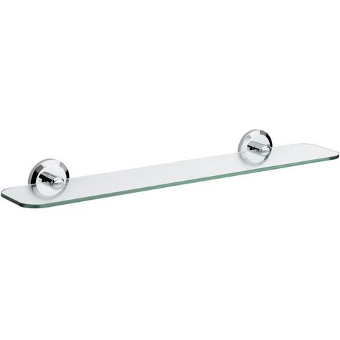 Solo Chrome Wall Mounted Glass Bathroom Vanity Shelf...