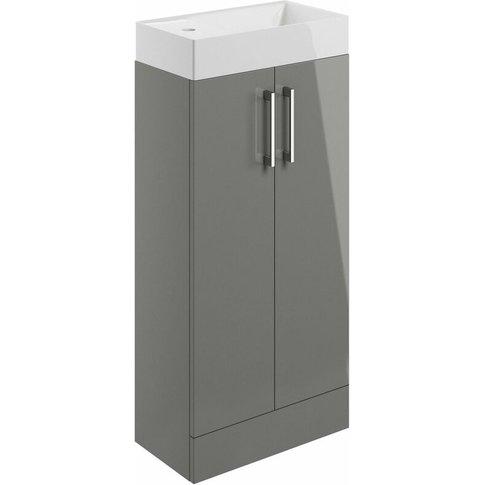 Aalborg Floor Standing 2-Door Vanity Unit With Basin...