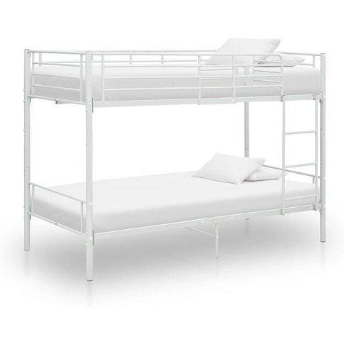 Bunk Bed White Metal 90x200 Cm - Vidaxl