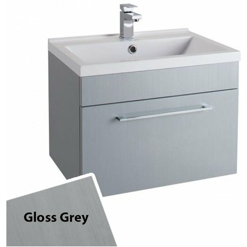 Idon Wall Hung 1-Drawer Vanity Unit With Polymarble ...