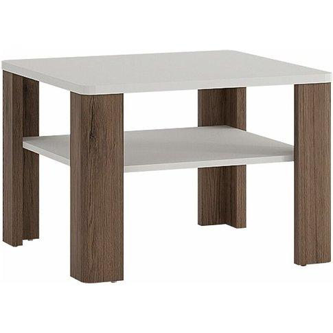 Netfurniture - Canada Coffee Table With Shelf White Melamine