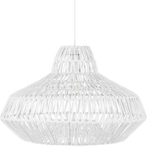 Ceiling Lamp White Gamtoos - Beliani