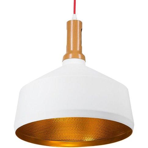 Pendant Lamp White Sepik - Beliani