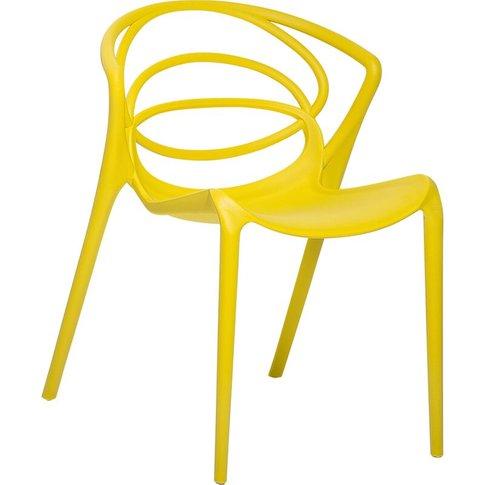 Dining Chair Yellow Bend - Beliani