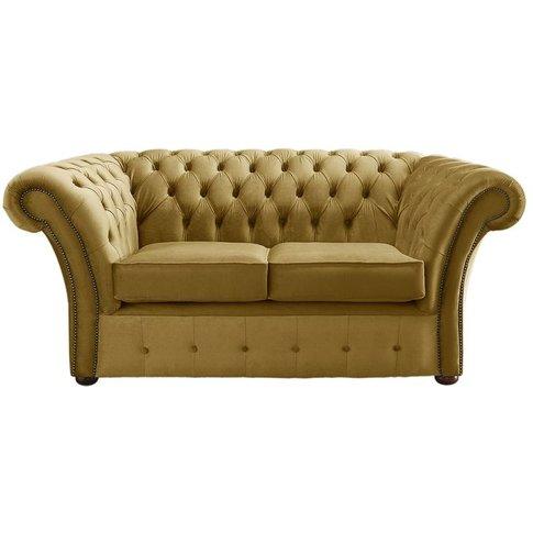 Chesterfield Balmoral Velvet Fabric Sofa Malta Gold ...
